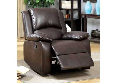 Oxford Rustic Dark Brown Recliner