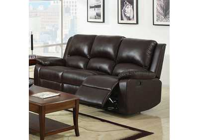 Oxford Rustic Dark Brown Motion Sofa