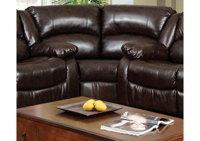 Winslow Brown Bonded Leather Match Corner Chair