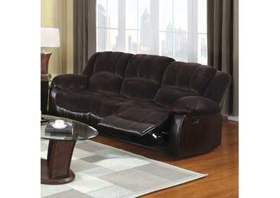 Image for Winchester Brown Champion Fabric/Leatherette Sofa