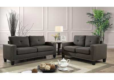 Attwell Gray Loveseat