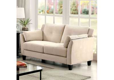 Ysabel Beige Loveseat