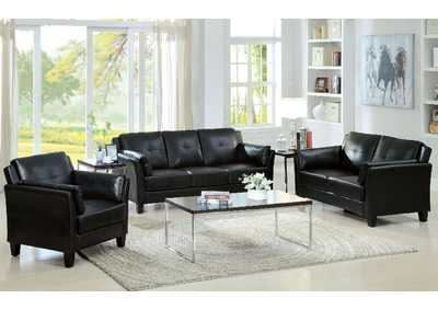 Pierre Black Sofa and Loveseat