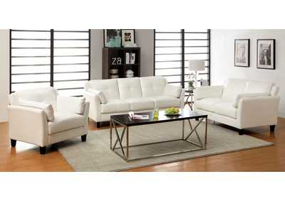 Pierre White Sofa and Loveseat