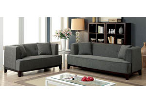 Sofia Gray Sofa and Loveseat