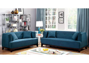 Sofia Dark Teal Sofa and Loveseat