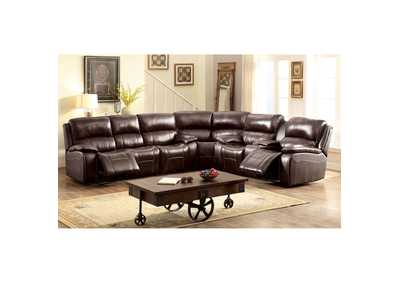 Ruth Brown Top Grain Leather Match Sectional