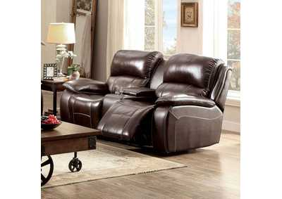 Ruth Brown Top Grain Leather Match Loveseat