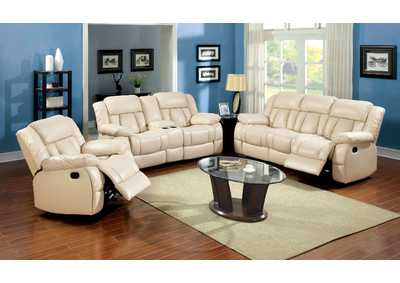 Barbado Ivory Sofa and Loveseat w/4 Recliners
