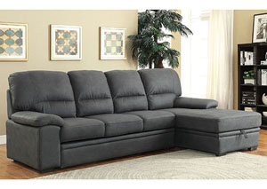 Alcester Graphite Sectional w/Sleeper