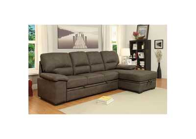 Alcester Brown Sectional w/Sleeper