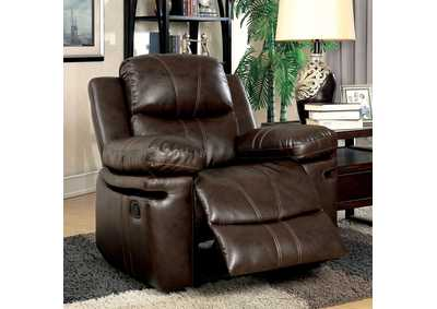 Listowel Brown Bonded Leather Match Chair