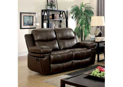 Listowel Brown Bonded Leather Match Loveseat