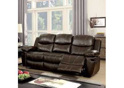 Listowel Brown Bonded Leather Match Sofa