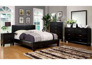 Winn Park Espresso Upholstered Eastern King Platform Bed
