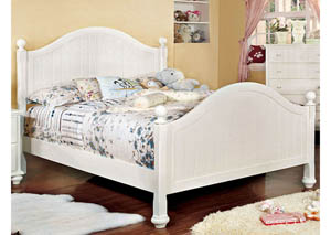 Cape Cod II White Queen Panel Bed