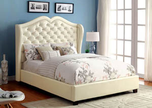 Monroe Ivory Eastern King Platform Bed