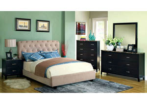Lemoore Beige Queen Platform Bed