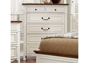 Galesburg White & Oak Drawer Chest
