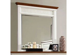 Galesburg White & Oak Mirror