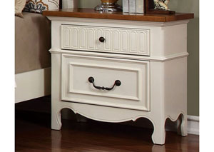 Galesburg White & Oak Nightstand