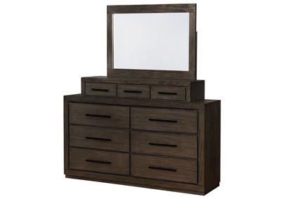 Oakburn Brown Dresser w/Jewelry Box