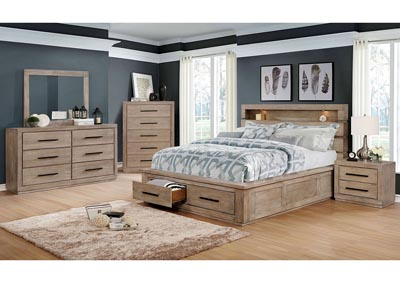 Oakburn Brown Eastern King Bed