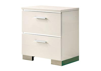 Image for Malte White Night Stand w/ 3 Drawers