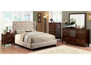 Fontes Ivory California King Platform Bed