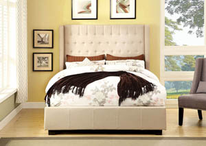 Mira II Ivory Queen Platform Bed