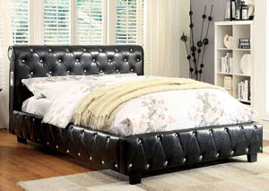 Juilliard Black California King Platform Bed