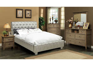 Juilliard Silver Eastern King Platform Bed