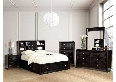 Yorkville Espresso California King Platform Storage Bed