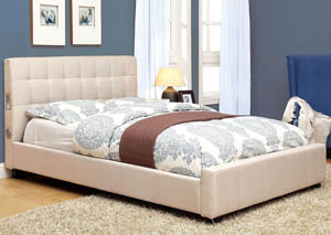 Dillan Ivory Eastern King Platform Bed