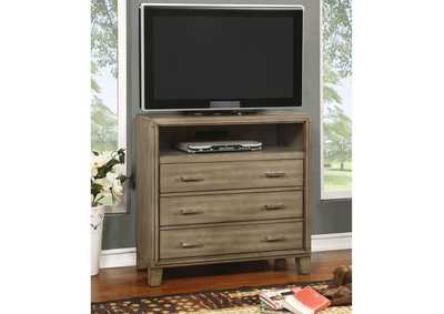 Enrico I Gray Media Chest,Furniture of America