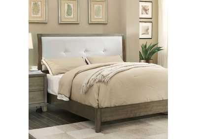 Enrico I Gray Queen Upholstered Platform Bed