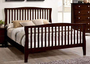 Riggins Brown Cherry California King Panel Bed