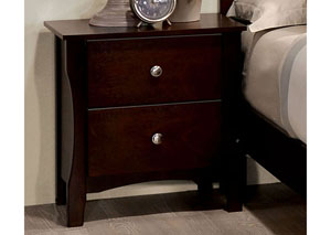 Riggins Brown Cherry Nightstand