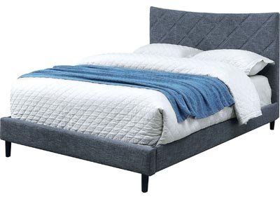 Estarra Blue California King Platform Bed