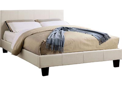Sims Beige Eastern King Platform Bed