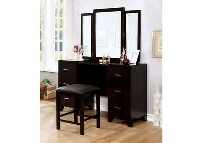 Image for Winn Park Black Vanity w/Stool