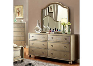 Nisha Gold Dresser w/Crocodile Panel