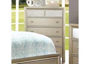 Briella Silver Chest w/Mirror Panel