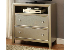 Briella Silver TV Chest w/Mirror Panel