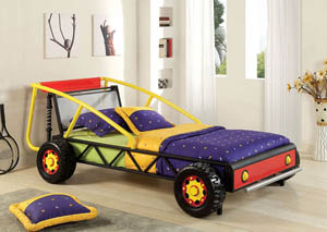 Racer Red and Yellow Twin Bed