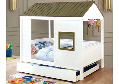 Cobin Gray/White Full Size House Bed