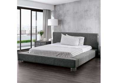 Canaves Dark Gray Queen Bed