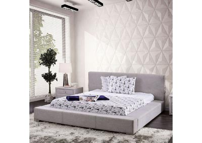 Canaves Gray California King Platform Bed