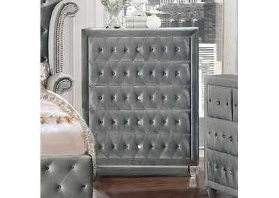 Alzir Gray Upholstered Chest,Furniture of America