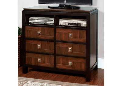 Patra Acacia & Walnut Media Chest